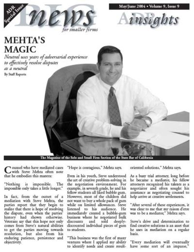 Steven G. Mehta on Big News