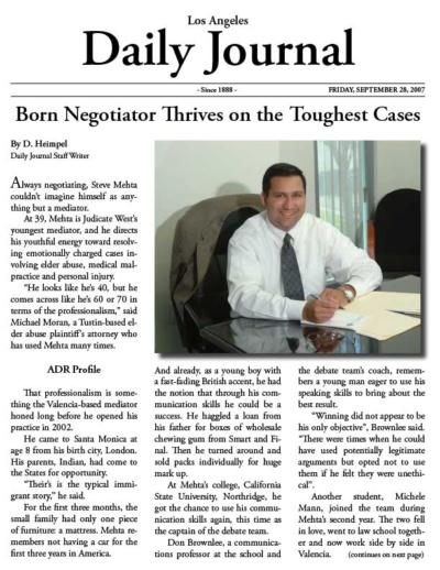 Steven G. Mehta on Daily Journal