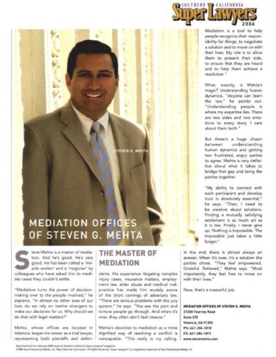 Mediation Offices of Steven G. Mehta